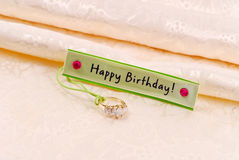 Regalo di compleanno di amore immagini stock