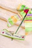 Regalo di compleanno di amore fotografie stock libere da diritti