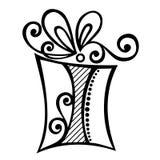Regalo di festa ornamentale Immagine Stock