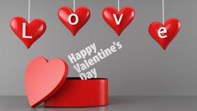Regalo di giorno di biglietti di S. Valentino Fotografia Stock