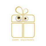 Regalo di Halloween con gli occhi su fondo bianco per Halloween EPS10 illustrazione di stock