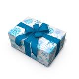 Regalo di Natale blu e bianco 01 Immagini Stock Libere da Diritti