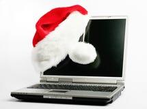 Regalo di Natale - computer portatile Fotografia Stock