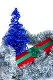 Regalo di Natale ed albero Fotografia Stock