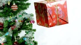 Regalo di Natale di filatura video d archivio