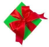 Regalo di Natale isolato su bianco immagine stock libera da diritti