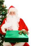 Regalo di natale per Santa fotografia stock