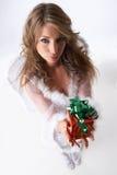 Regalo di Natale piacevole Fotografie Stock Libere da Diritti