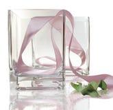 Regalo di vetro del vaso Fotografie Stock