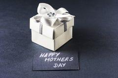 Regalo e carta di giorno di madri Fotografia Stock