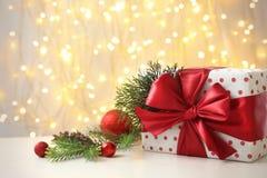 Regalo e decorazione di Natale fotografia stock