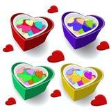 Regalo el el día de tarjeta del día de San Valentín Regalo de cumpleaños Imágenes de archivo libres de regalías