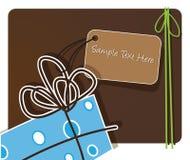 Regalo elegante e una cartolina d'auguri illustrazione di stock