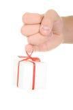 Regalo en el dedo Imagen de archivo libre de regalías