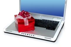Regalo en línea Fotos de archivo libres de regalías