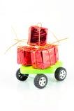 Regalo en las ruedas Imagen de archivo libre de regalías