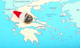 Regalo europeo del Año Nuevo para Grecia Fotos de archivo