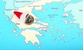 Regalo europeo di nuovo anno per la Grecia Fotografie Stock