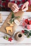 Regalo fresco de la Navidad Fotografía de archivo libre de regalías