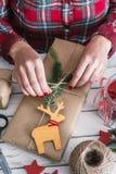 Regalo fresco de la Navidad Imagen de archivo