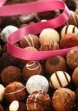 Regalo hecho a mano del chocolate Imagen de archivo libre de regalías