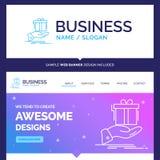 Regalo hermoso de la marca del concepto del negocio, sorpresa, solución ilustración del vector