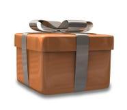 Regalo marrón envuelto 3D v2 Stock de ilustración