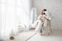 Regalo nel San Valentino Fotografia Stock