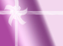 Regalo púrpura Imágenes de archivo libres de regalías