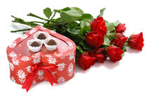 Regalo per il giorno di St.Valentine Fotografia Stock