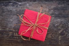 Regalo per il Natale o il compleanno Fotografia Stock