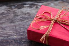 Regalo per il Natale o il compleanno Immagini Stock Libere da Diritti