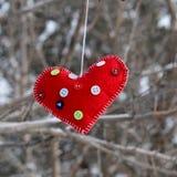Regalo per il San Valentino con le loro proprie mani Fotografia Stock Libera da Diritti