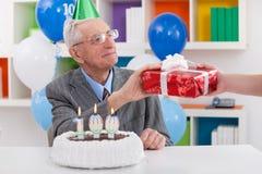 Regalo per il 100th compleanno Fotografia Stock Libera da Diritti