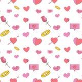 Regalo pieno di amore del biglietto di S. Valentino del modello royalty illustrazione gratis