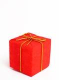 Regalo rojo de la Navidad Imágenes de archivo libres de regalías