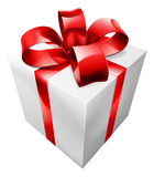 Regalo rojo y blanco Foto de archivo libre de regalías