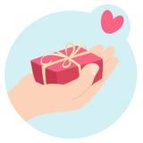 Regalo romantico dei biglietti di S. Valentino Fotografia Stock Libera da Diritti