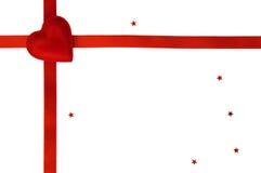 Regalo simple del día de tarjeta del día de San Valentín aislado fotografía de archivo libre de regalías