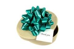 Regalo verde para usted Fotos de archivo libres de regalías