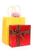 regalo y bolso del regalo Foto de archivo libre de regalías
