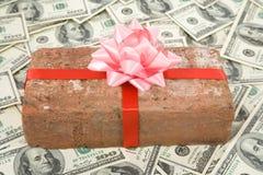 Regalo y dólares de la broma Foto de archivo libre de regalías