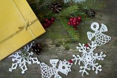 Regalo y decoración de la Navidad Fotografía de archivo libre de regalías