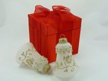 Regalo y ornamento de la Navidad fotografía de archivo