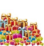 Regalos coloridos de la Navidad. libre illustration