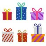 Regalos coloridos de la Navidad Fotos de archivo libres de regalías