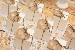 Regalos de boda para la huésped Fotografía de archivo
