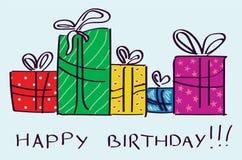 Regalos de cumpleaños libre illustration