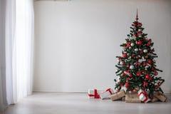 Regalos de la decoración de la Navidad del árbol de navidad Fotografía de archivo