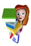 regalos de la explotación agrícola de la muchacha 3D con el bolso de compras Imagen de archivo libre de regalías